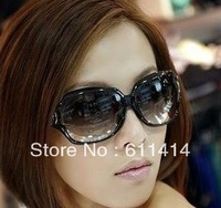 Free shipping the new hollow fashion sunglasses eyewear, big round sunglasses