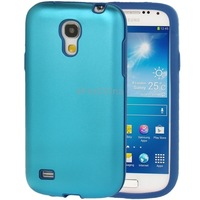Silicone Protective Phone Case for Samsung Galaxy S 4 mini i9190 i9192 Baby Blue