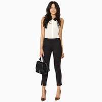 New 2014 Spring Summer Elastic fabric Women Pants &  Black Capri pants