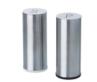 2 pieces stainless steel spice, salt and pepper shaker