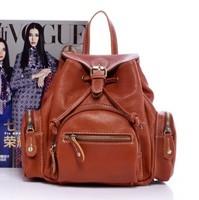2013 genuine leather satchel genuine leather women's handbag leather bag vintage fashion double-shoulder female
