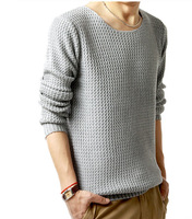 High Quality Casual Men Knitted Sweater Pullovers Navy Red Black M L XL AM03