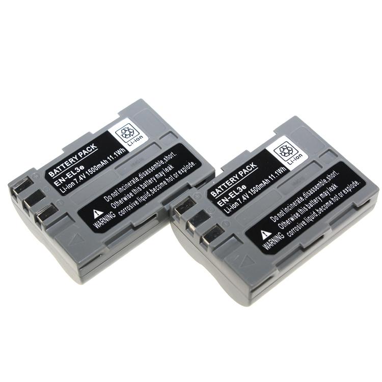 Digital Boy Wholesale 2pcs Hot ENEL3e EN-EL3e Rechargeable Battery for Nikon D70s D70 D5 Fast Shipment()