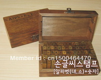Wooden Stamps AlPhaBet digital and letters seal 70 pcs set standardized form stamps  letters  free shipping