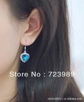 New style 2013 Modern Individual Delicate Graceful Austrian purple crystal Ocean Heart drop Earring Free shipping