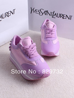 Free shipping 2013 spring and autumn canvas shoes rivet platform casual shoes sport shoes