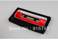 Bw(018) High Quality Sale Retro Cassette Tape Silicone Back Cover Shell Case For iPhone 5 5G Free Shipping ( 12 pieces/lot)