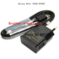 High Quality OEM 2A EU USB Wall Charger+Micro USB Cable For Samsung Galaxy Note N7000 i9220 Free shipping DHL UPS HKPAM YF-008