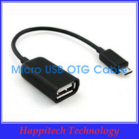 Free Shipping 100Pcs/lot Micro USB OTG Cable for Samsung Galaxy S3 9300,S2 i9100,Note N7000.