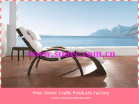 custom make SGS HDPE rattan wicker poolside chair SCLC-074