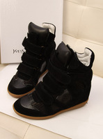 2014 New autumn winter fashion sneakers women genuine leather shoes platform high-top woman chaussures female zapatos 4