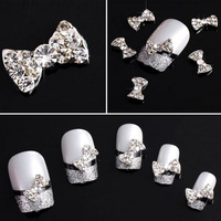 20x 3D Alloy Butterfly Bow Tie Glitters Slices For Nail Art Tips DIY Decorations Free shipping&Wholesale