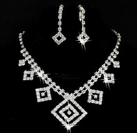 Free shipping crystal bridal jewelry sets  cheap jewelry wedding accessory 002