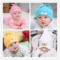 Baby Hat Toddlers Boys Girls Caps Newborn Bear Sleep Hats Spring Autumn Baby Cotton Cartoon Animal Cap Free Shipping Wholesale