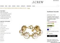 Free Shipping Brand New Big Venetian Pearls Sunflower Bracelet For Women JP080712