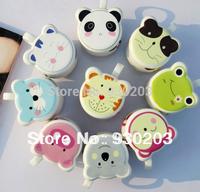 Cute Cartoon Animal Ceramic Coffee Cup Mug with Lid Free Shipping