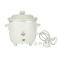 2 slow cooker white porcelain ceramic small electric cooker soup porridge pot mini baby bb cooker 0.7l