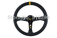 "14"" OMP Steering Wheel PVC Leather Steering Wheel Deep Dish"