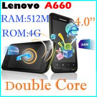 Original Lenovo A660 phone russia polish menu three anti-mobile phone dual-core 1.2G cpu dual sim card