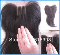 NEW&HOT 3 way part closure Virgin Brazilian Closure,natural straight closure virgin 4X4inch, natural color,new star hair