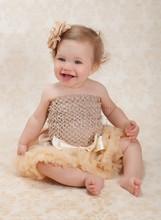 Newborn Infant Baby Girls Pettiskirt Tutu Skirt One size NB-6M - Antique Ivory(Hong Kong)