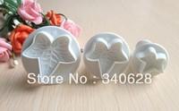 Factory Wholesale leaf shape cake cookies machine plunger paste sugar craft decorating tools 10sets/lot