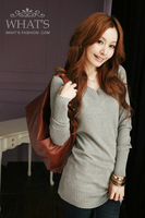 2012 autumn women's long-sleeve medium-long basic sweater