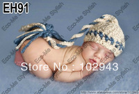 Free Shipping Cute Pixie Boy Caps for Photo Props Handmade Crochet Newborn Baby ELF Stocking Caps baby hat