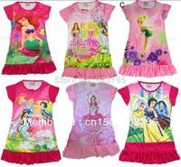 New Kids Girls Princess Party Nightwear Sleepwear Dress 3-9 Yrs 10 Design Choose Free Shipping