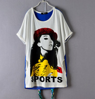 free shipping 2013 summery women's loose fit short sleeves T shirt ,Tops & Tees WS13001
