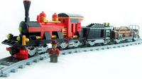 Building Blocks Train city Toy Series Steam Locomotive 410PCS, Self-locking Bricks,Toys for Children