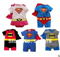 Baby romper clothing cotton boy girl Halloween kids superman supergirl with cloak show wholesaler batman christmas Santa Claus