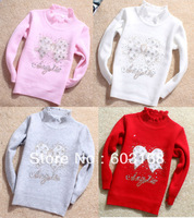 2013 Lovely  Crystal Girl's Sweater/Kids Clothes/Kids Sweater/Babywear Free Shipping {iso-18-8-7-A2}
