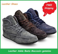 2013 New Hot Fashion Leather Moccasin-Gommino Leisure Men's Shoes, Casual,Classic Ankle Boots Sneakers.Drop, Free Shipping, A02