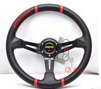 MOMO Racing Steering Wheel Black PVC Steering Wheel Automobile Race 14 Inch FREE SHIPPING