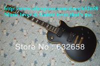 New Arriva Best Quality Customshop Eclipse I Vintage Matte Black Electric Guitar Ebony Fingerboard Pearl Block Inlays