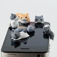 $15 Free Shipping Wholesale new ks designer name brand kawaii cat tail jack Anti dust plug for phone/cute anime earphones cap