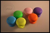 Portable Mini Mushroom Silicone Sucker Waterproof   Speakers for iphone 5 / for Galaxy S4