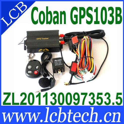 TK103B Vehicle GPS tracker Remote Control Portoguese Manual Quad band SD card GPS 103 PC&web-based GPS system free shipping(China (Mainland))