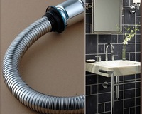 Stainless Steel Water Basin Washbasin Retractable Hose Corrugated Pipes Under Bending bf75