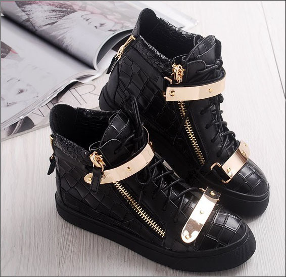 Women's Black High Top Fashion Sneakers Black Fashion Sneakers For