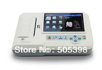*EMS Free Shipping* ECG600G 6-Channel 12-Lead Digital Cardiology EKG ECG Machine