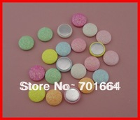 Bargain for Bulk 20mm round mixed sweet glitter covered button with flat back as hair accessories&jewelry accessories