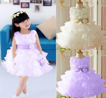 Hot selling!2013 new roses pendulum sleeveless waist chiffon dress 5pcs/lot wholesale free shipping children's dress girl sketch