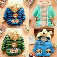 retail,Free shipping 2013 new boys jackets, cartoon boys clothes, children coat, kids clothing, boys winter clothes, 3 sizes