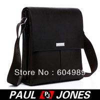 Free Shipping PJ Men's Hot Fashion Business Polyurethane + Real Leather Shoulder Bag Messenger GZ313