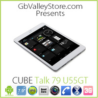 """original""Cube u55gt  TALK 79 Quad Core 7.9 inch 3G phone Tablet PC 1G RAM 16GB Android 4.2.2  Bluetooth drop shipping"