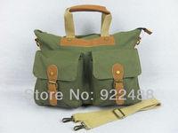 Brand new Green canvas Hand bag Messenger bag Shoulder Hobo bag