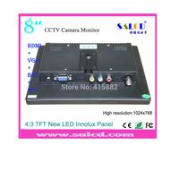 "wholesale!   8 "" cctv monitor lcd with HDMI/ AV /VGA/BNC  in,   high resolution of 1024x768 +Fedex/DHL free shipping"