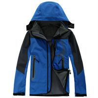 Spring and Autumn Men Jacket Outdoor Sportswear Softshell Microfleece Hoodie Waterproof Outerwear